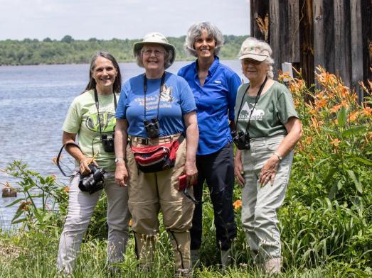 From left, Sherri Rollins, Susan Crockett, Terry Skinner, Edie Bradbury